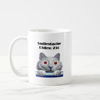 Smilestache Rides: 25 ¢ Coffee Mug