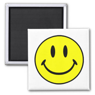 Smiley 2 Inch Square Magnet