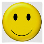 smiley 3D Poster
