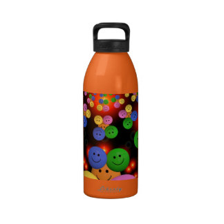 smiley-432563 COLORFUL DISCO STYLE PARTY smiley la Water Bottles