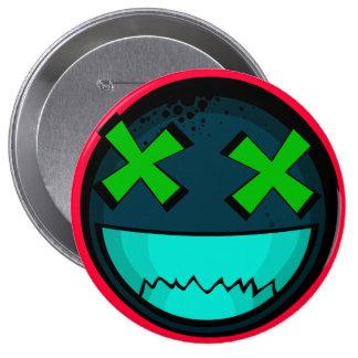Smiley 4 Inch Round Button