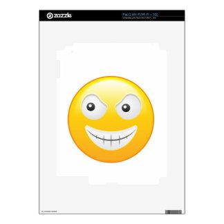 """Smiley 4"" iPad 2 Decal"