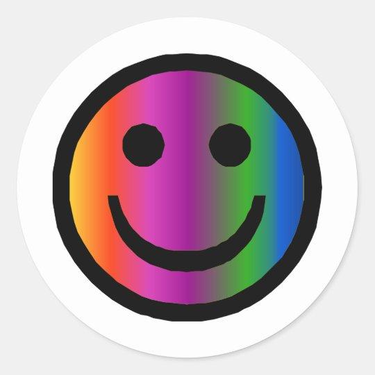 Smiley 8 pegatina redonda