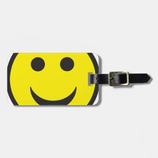 Smiley ácido de la casa del delirio etiquetas de equipaje