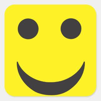 Smiley ácido de la casa del delirio pegatina cuadrada