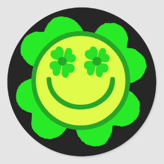 Smiley afortunado etiqueta
