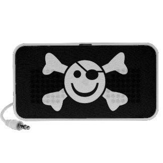 Smiley alegre iPod altavoces