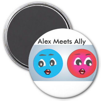 Smiley Alex And Ally Fearing. Magnet
