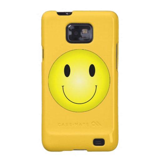 Smiley amarillo clásico galaxy s2 carcasa