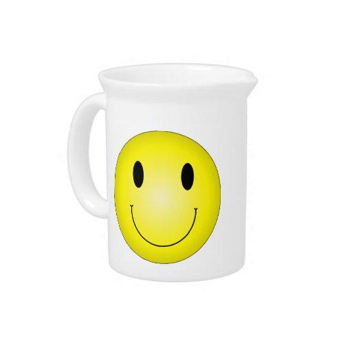 Smiley amarillo clásico jarras
