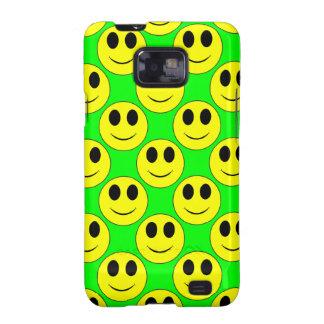 Smiley amarillo grande por todo la caja de la galaxy s2 funda