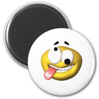 Smiley amarillo que fue las nueces imán de frigorifico