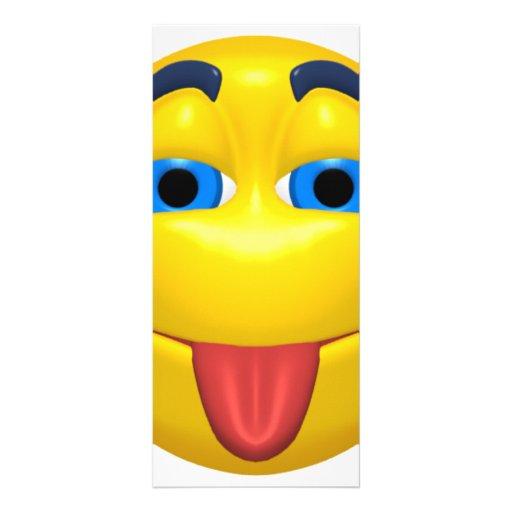 Smiley amarillo que pega hacia fuera Tounge Tarjetas Publicitarias Personalizadas