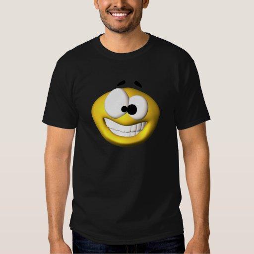 Smiley amarillo torpe camisas