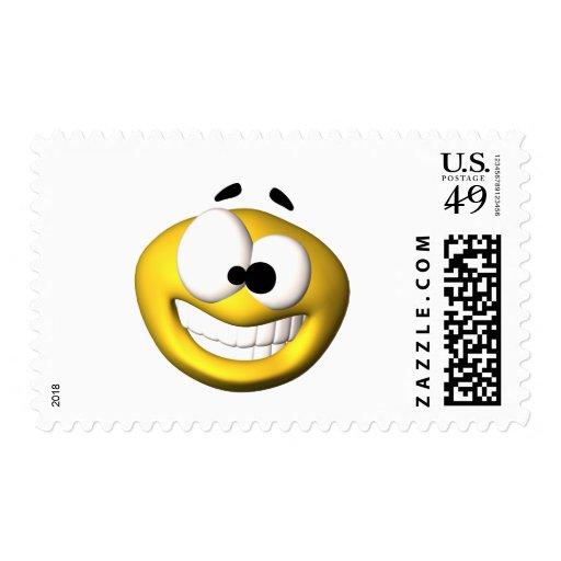 Smiley amarillo torpe franqueo
