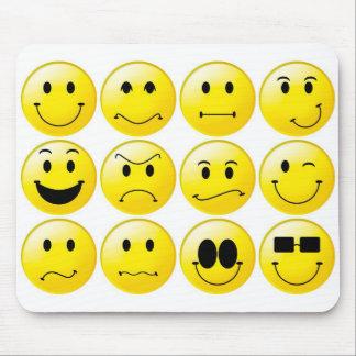 Smiley amarillos alfombrilla de ratón