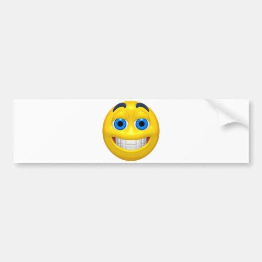 Smiley amplio del amarillo del ojo etiqueta de parachoque