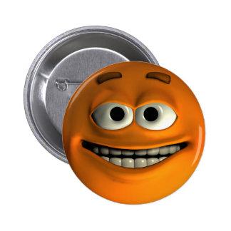 Smiley anaranjado pins