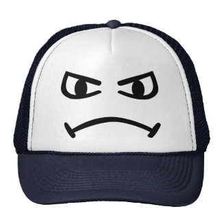 Smiley angry trucker hat
