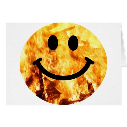 Smiley ardiente tarjeton