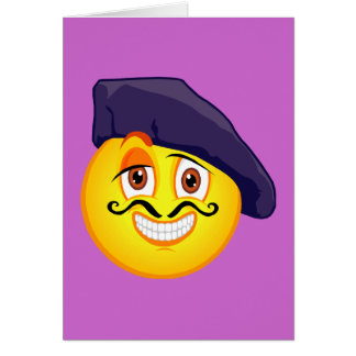 Smiley Artist Greeting Card