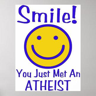 Smiley ateo impresiones
