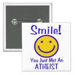 Smiley ateo pin