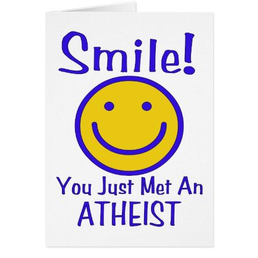 Smiley ateo tarjeta de felicitación