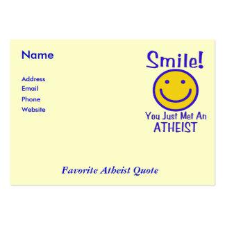 Smiley ateo tarjetas de visita grandes