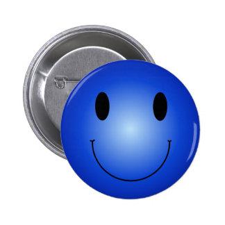 Smiley azul pin