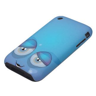 Smiley azul tough iPhone 3 carcasa