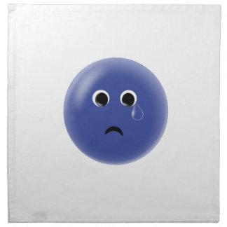Smiley azul triste servilletas de papel