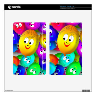 Smiley Balloons Decals For Kindle Fire