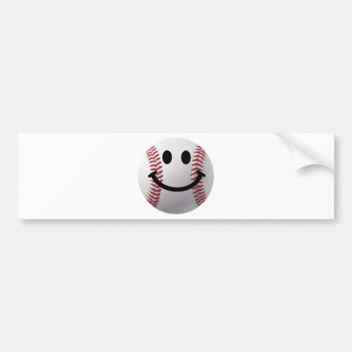 smiley baseball bumper stickers