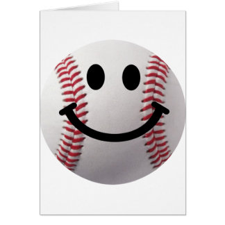 smiley baseball card