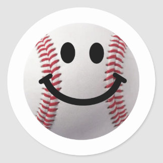 smiley baseball stickers
