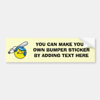 Smiley Baseball T-shirts and Gifts Bumper Sticker