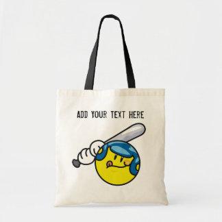 Smiley Baseball T-shirts and Gifts Tote Bag