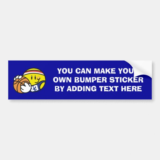 Smiley Basketball Tshirts and Gifts Bumper Sticker
