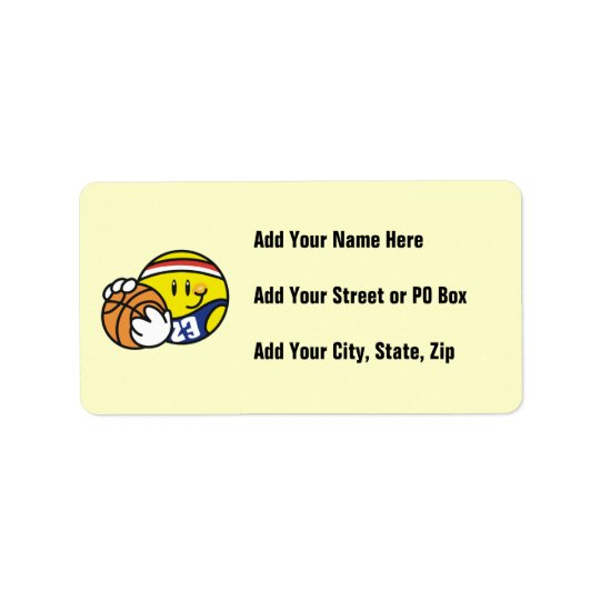 Smiley Basketball Tshirts and Gifts Label