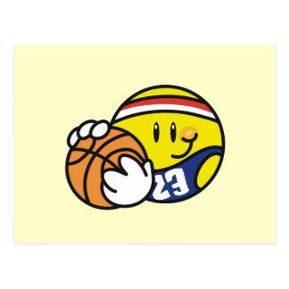 Smiley Basketball Tshirts and Gifts Postcard