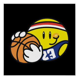 Smiley Basketball Tshirts and Gifts Posters