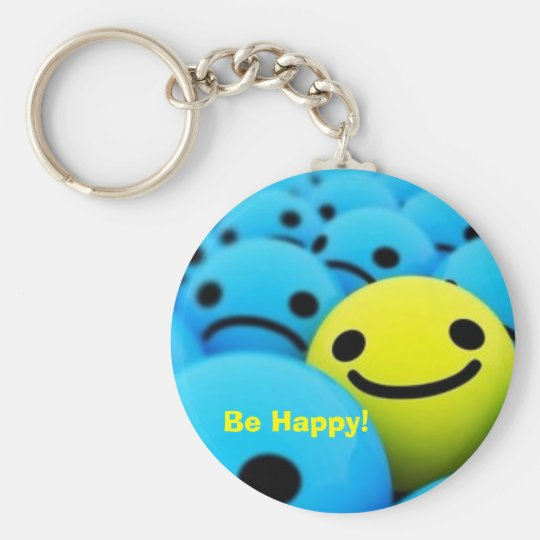 smiley, Be Happy! Keychain