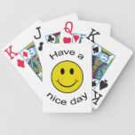 Smiley Bicycle Playing Cards