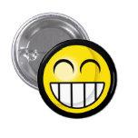 Smiley Big Grin Button
