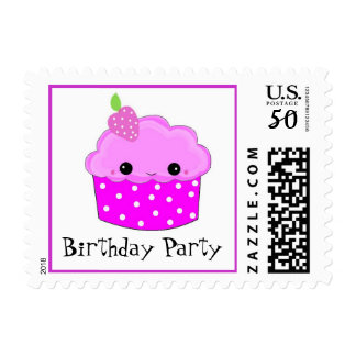 Smiley Birthday Cupcake Postage