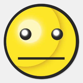 Smiley Blank Stare Sticker