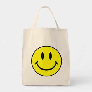 Smiley Bolsa Lienzo