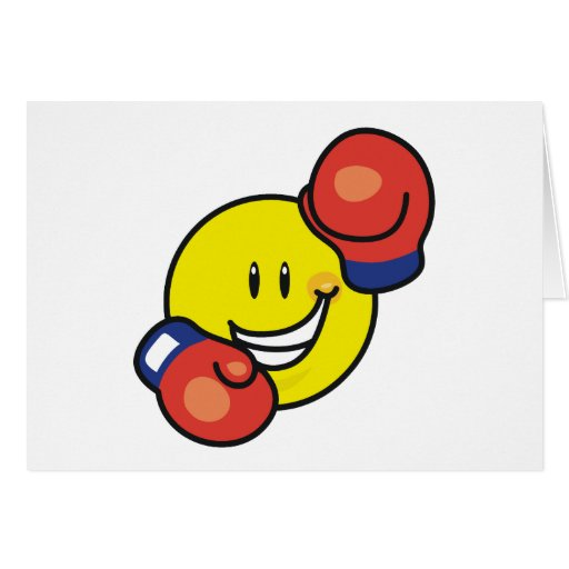 Smiley Boxing Card