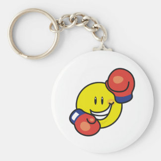 Smiley Boxing Keychain